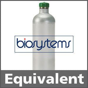 Biosystems 54-9057 Hydrogen Sulfide Calibration Gas - 25 ppm (H2S)  34L
