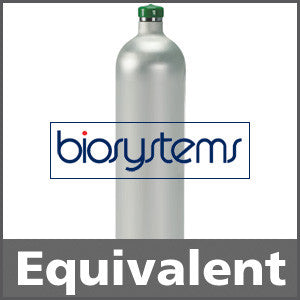 Biosystems 54-9034 Hydrogen Sulfide Calibration Gas - 25 ppm (H2S)  58L