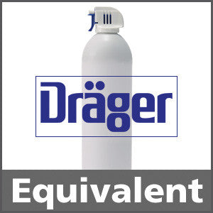 Draeger 4594634 Hydrogen Sulfide Bump Test Gas - 25 ppm (H2S)