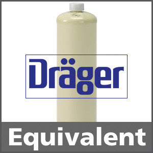 Draeger 4594656 Calibration Gas: 50% LEL Methane, 20.9% Oxygen, 100 ppm Carbon Monoxide, Balance Air