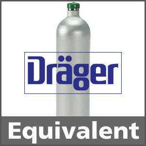Draeger 4502155 Hydrogen Sulfide Calibration Gas - 25 ppm (H2S)
