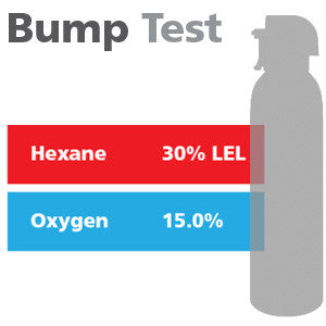 Gasco Multi-Gas Bump Test 333: 30% LEL Hexane, 15% Oxygen, Balance Nitrogen