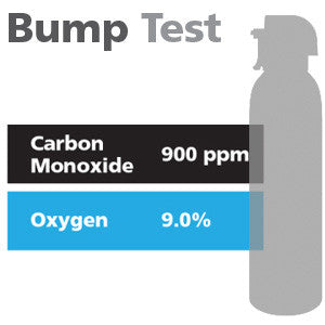 Gasco Multi-Gas Bump Test 339: 9% Oxygen, 900 ppm Carbon Monoxide, Balance Nitrogen