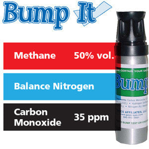 Gasco Multi-Gas Bump-It 361: 50% vol. Methane, 35 ppm Carbon Monoxide, Balance Nitrogen