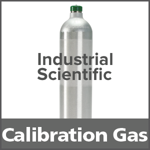 Industrial Scientific 1810-9092 Equivalent Calibration Gas: 2.5% vol. Methane, 19% Oxygen, 25 ppm Hydrogen Sulfide, Balance Nitrogen