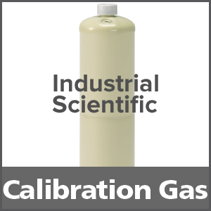 Industrial Scientific 1810-1246 Equivalent Calibration Gas: 50% LEL Methane, 19% Oxygen, 100 ppm Carbon Monoxide, Balance Nitrogen