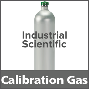 Industrial Scientific 1810-9156 Equivalent Calibration Gas: 2.5% vol. Methane, 18% Oxygen, 100 ppm Carbon Monoxide, 25 ppm Hydrogen Sulfide, Balance Nitrogen