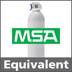 MSA 814349 Bump Test Gas: 2.5% Methane, 15% Oxygen, 300 ppm Carbon Monoxide, 35 ppm Hydrogen Sulfide, Balance Nitrogen (Minimum Order 12 Units)