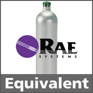 RAE Systems 600-0055-000 Nitrogen Dioxide Calibration Gas - 5 ppm (NO2)
