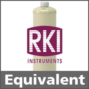 RKI Instruments 81-0091RK Calibration Gas: 25% LEL Pentane, 19% O2, 100 ppm CO, Balance Nitrogen