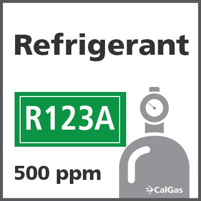 Refrigerant R123A Calibration Gas - 500 PPM