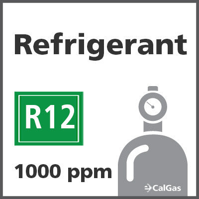 Refrigerant R12 Calibration Gas - 1000 PPM