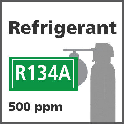 Refrigerant R134A Bump Test Gas - 500 PPM