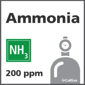 Ammonia Calibration Gas - 200 ppm (NH3)