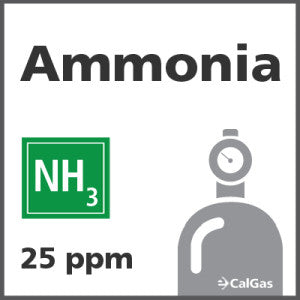 Ammonia Calibration Gas - 25 ppm (NH3)