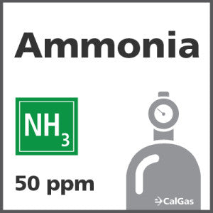 Ammonia Calibration Gas - 50 ppm (NH3)