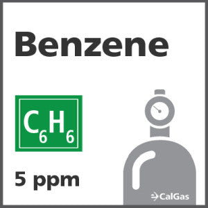 Benzene Calibration Gas - 5 PPM (C6H6)