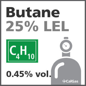 Butane 25% LEL Calibration Gas - 0.45% vol. (C4H10)