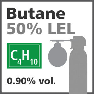 Butane 50% LEL Bump Test Gas - 0.90% vol. (C4H10)