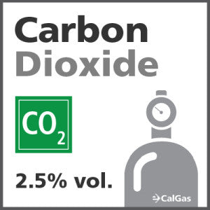 Carbon Dioxide Calibration Gas - 2.5% vol. (CO2)