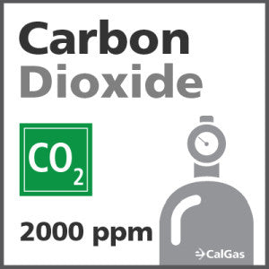 Carbon Dioxide Calibration Gas - 2000 PPM (CO2)
