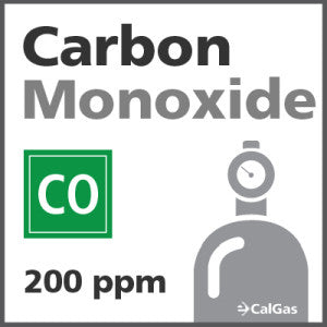 Carbon Monoxide Calibration Gas - 200 PPM (CO)