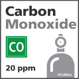 Carbon Monoxide Calibration Gas - 20 PPM (CO)