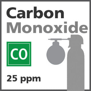 Carbon Monoxide Bump Test Gas - 25 PPM (CO)
