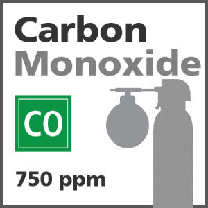 Carbon Monoxide Bump Test Gas - 750PPM (CO)