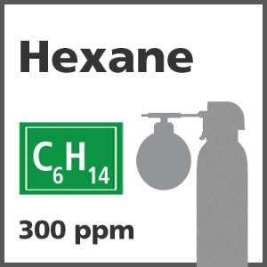 Hexane Bump Test Gas - 300 PPM (C6H14)