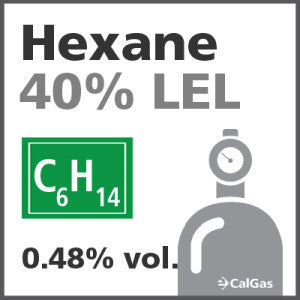 Hexane 40% LEL Calibration Gas - 0.48% vol. (C6H14)
