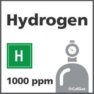 Hydrogen Calibration Gas - 1000 PPM (H)