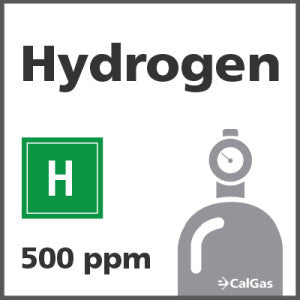 Hydrogen Calibration Gas - 500 PPM (H)