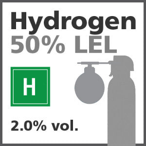 Hydrogen 50% LEL Bump Test Gas - 2.0% vol. (H)