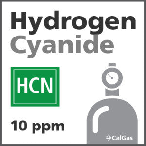 Hydrogen Cyanide Calibration Gas - 10 ppm (HCN)