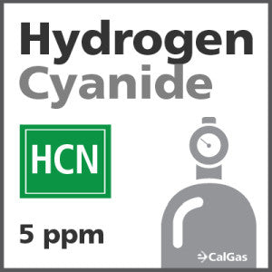Hydrogen Cyanide Calibration Gas - 5 ppm (HCN)