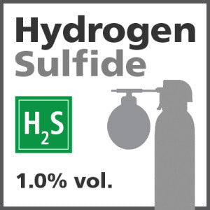 Hydrogen Sulfide Bump Test Gas - 1% vol. (H2S)