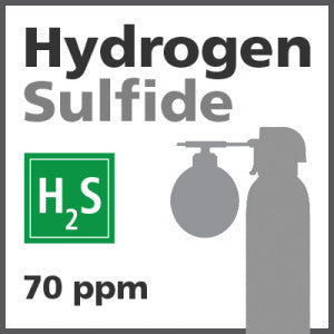 Hydrogen Sulfide Bump Test Gas - 70 ppm (H2S)