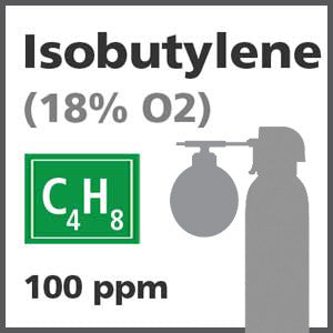 Isobutylene Bump Test Gas - 100 PPM (C4H8), 18% O2 in Nitrogen for Biosystems