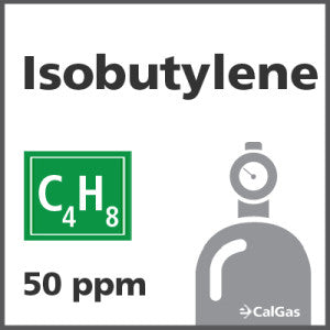 Isobutylene Calibration Gas - 50 PPM (C4H8)