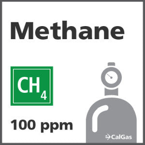 Methane Calibration Gas - 100 PPM (CH4)