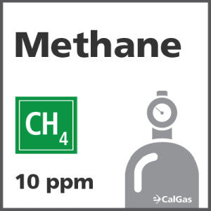 Methane Calibration Gas - 10 PPM (CH4)