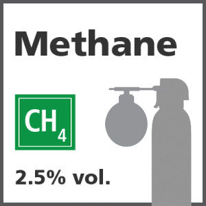 Methane Bump Test Gas - 2.5% vol. (CH4)