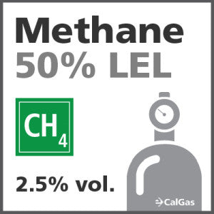 Methane 50% LEL Calibration Gas - 2.5% vol. (CH4)