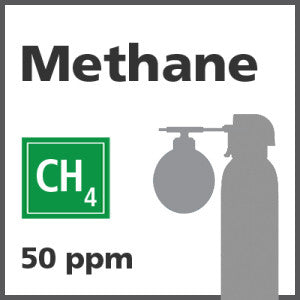 Methane Bump Test Gas - 50 PPM (CH4)