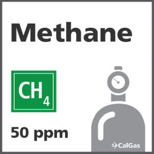 Methane Calibration Gas - 50 PPM (CH4)