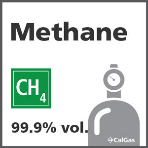 Methane Calibration Gas - 99.999% vol. (CH4)