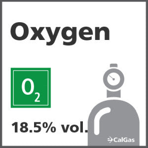 Oxygen Calibration Gas - 18.5% vol. (O2)