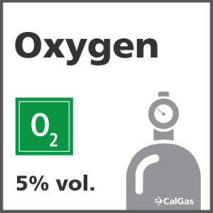 Oxygen Calibration Gas - 5% vol. (O2)