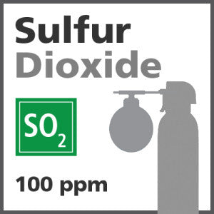 Sulfur Dioxide Bump Test Gas - 100 ppm (SO2)